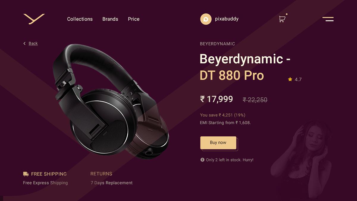 Clean Minimal Design design designer headphone Logo Designs minimal design product design  ui design visual design Web Design