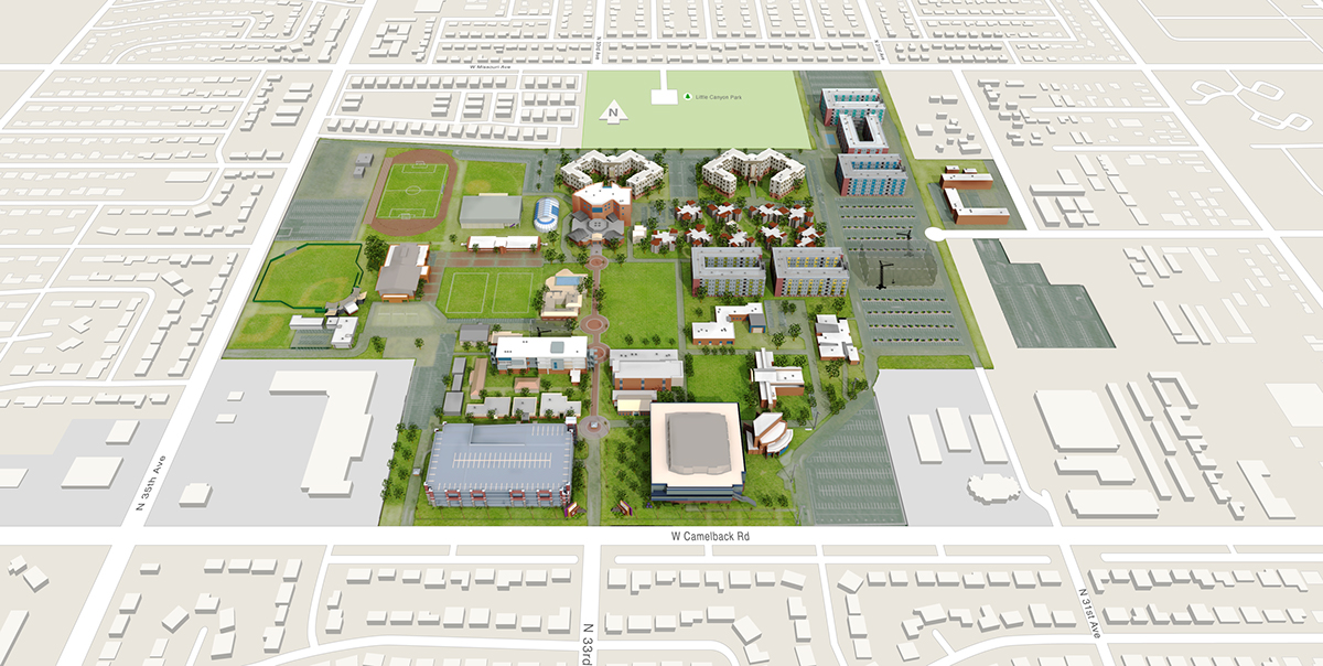 Gcu Interactive Campus Map On Behance