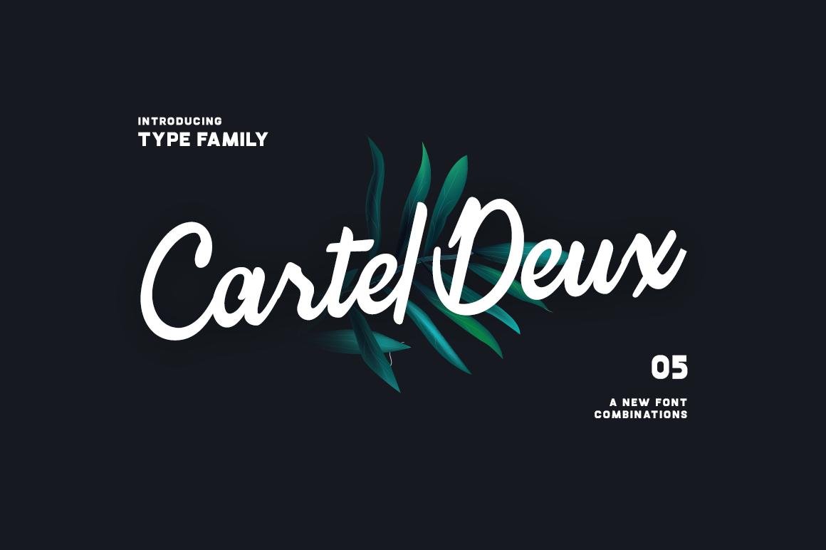 Font Family Set: Cartel Deux