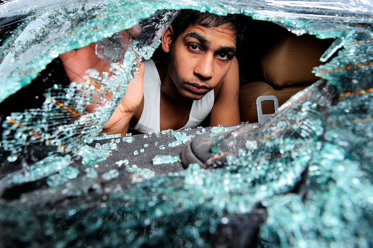 Kam Singh was driving down the Stuart Highway when a guy smashed up his car