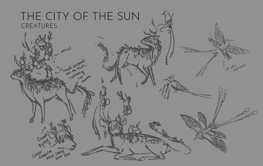 City of the Sun: Creatures