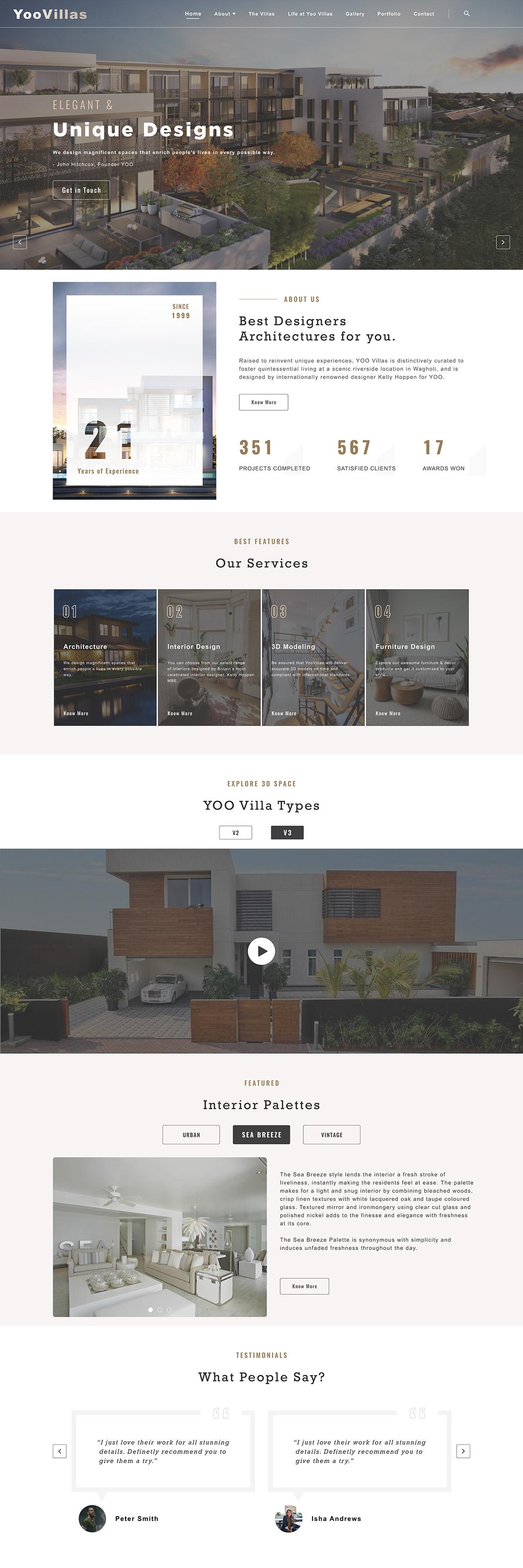 architecture homepage house Interior Designing Villas Website