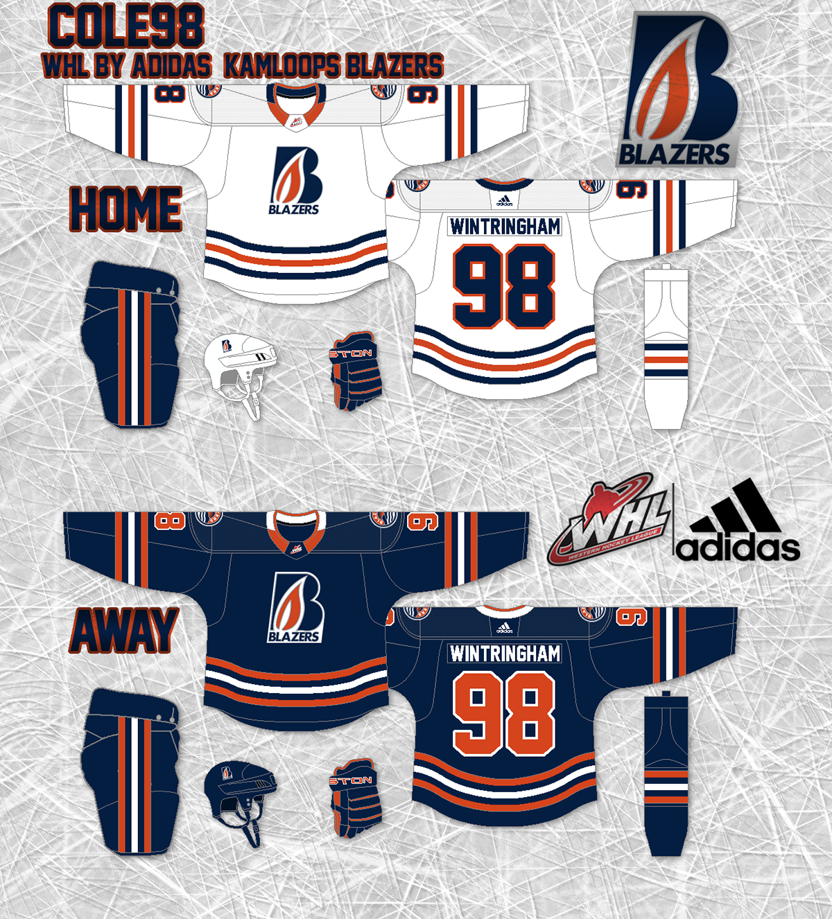 WHL Jerseys redone using Adidas on Behance e8bb295d0f2