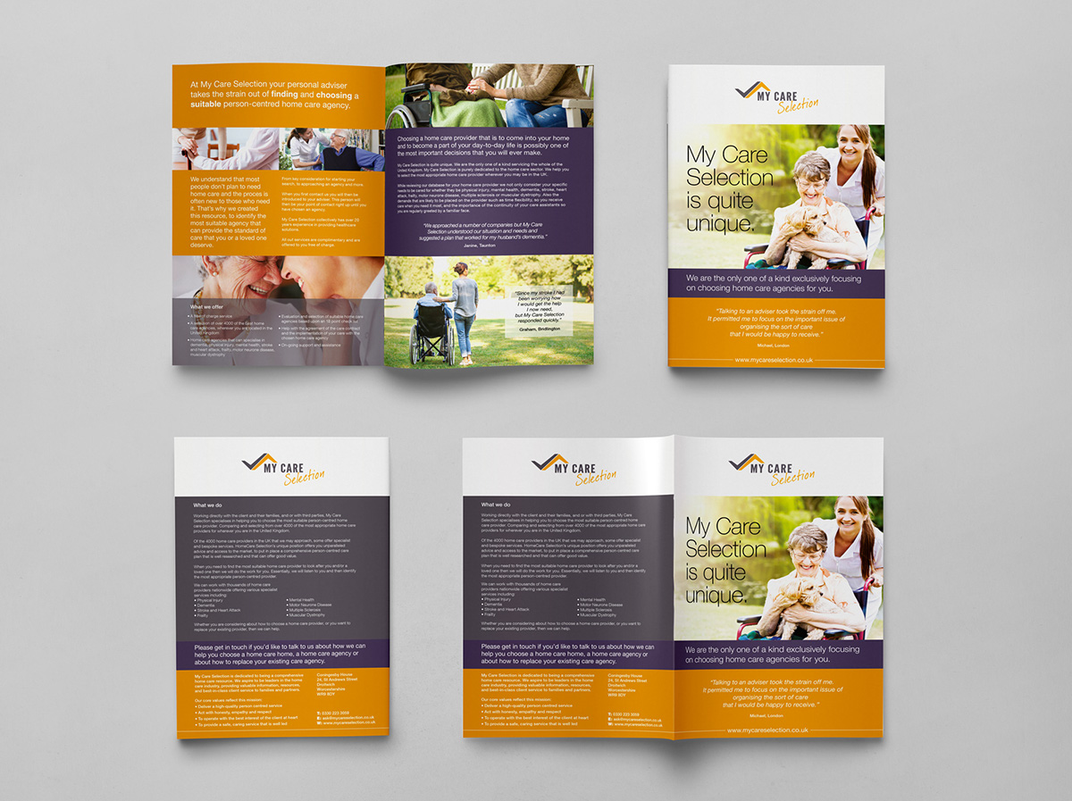My Care Selection Brochure Design On Behance