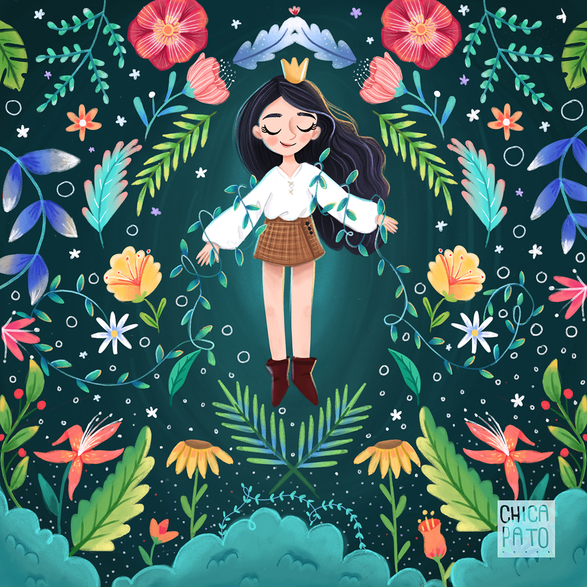 Flower Queen  U00b7 Illustration U00b7 On Behance
