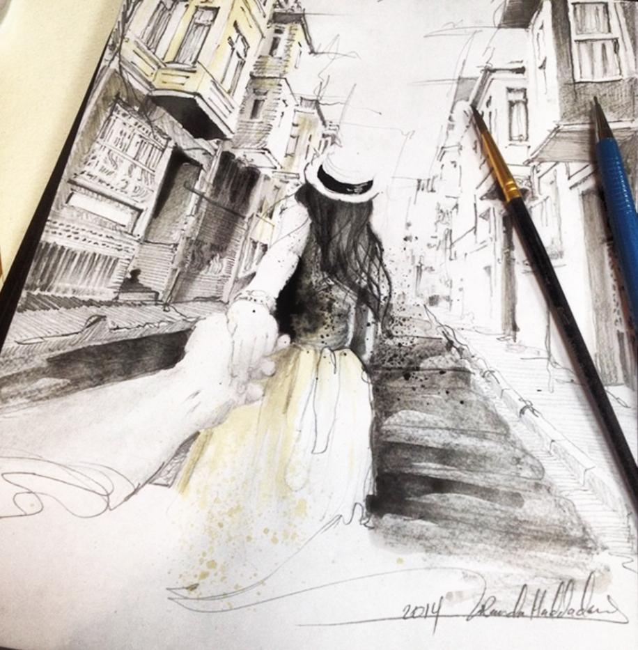 arts sketch fashion streetstyle streetart fashion illustration follow me to fashion art