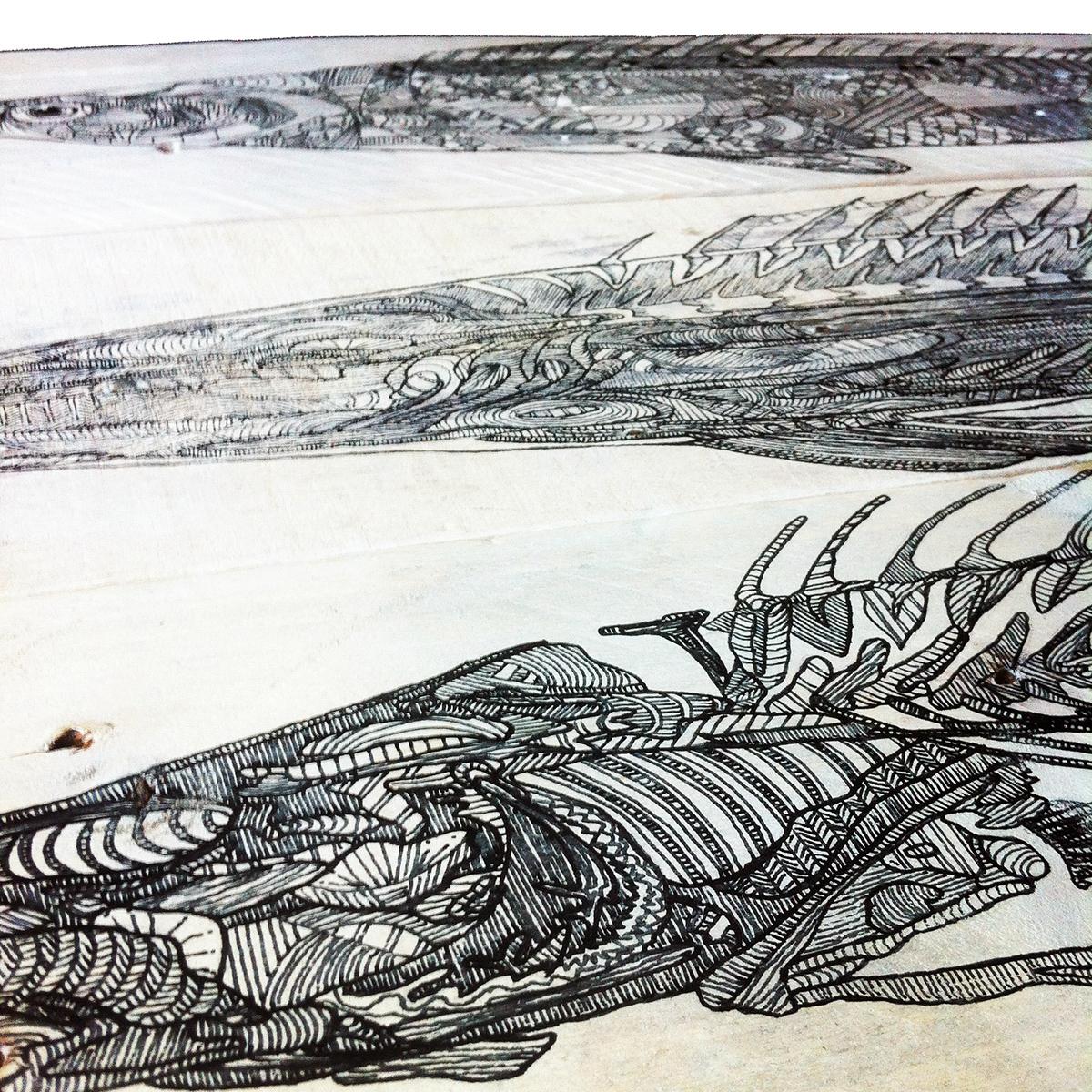 madera wood reciclaje RECYCLED peces fish art deco Pallet