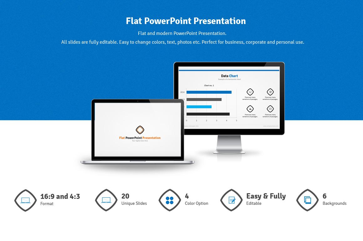 flat powerpoint presentation on behance