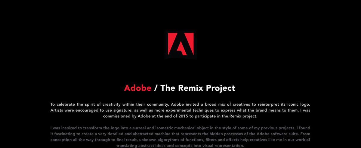 David Mascha adobe REMIX Isometric Logo Remix Adobe Logo Adobe Remix