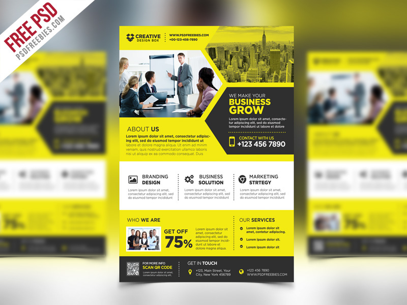 Free Psd Corporate Business Promotional Flyer Psd On Behance