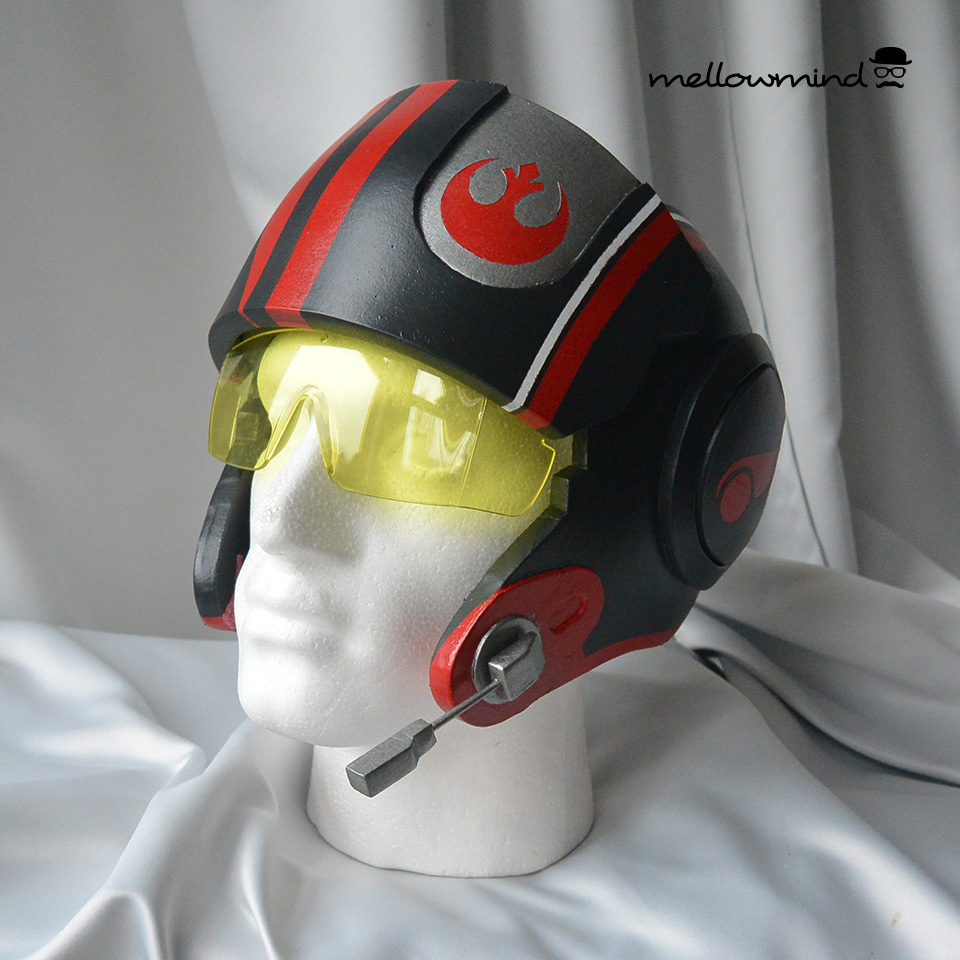 Poe Dameron X-wing cosplay helmet 1:1 on Behance