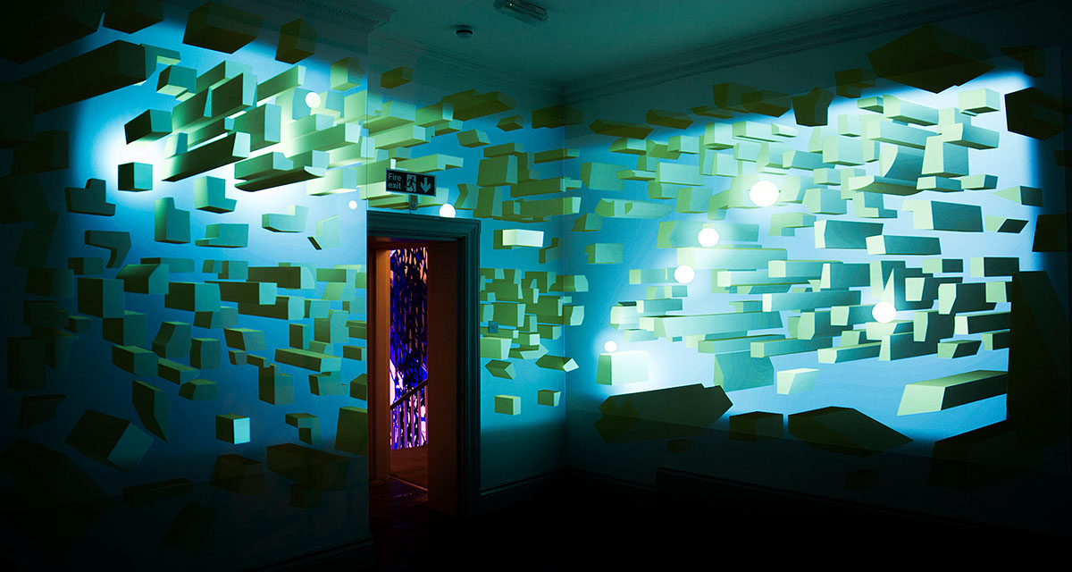 House of peroni mural projection mapping on pantone for Best projector for mural painting