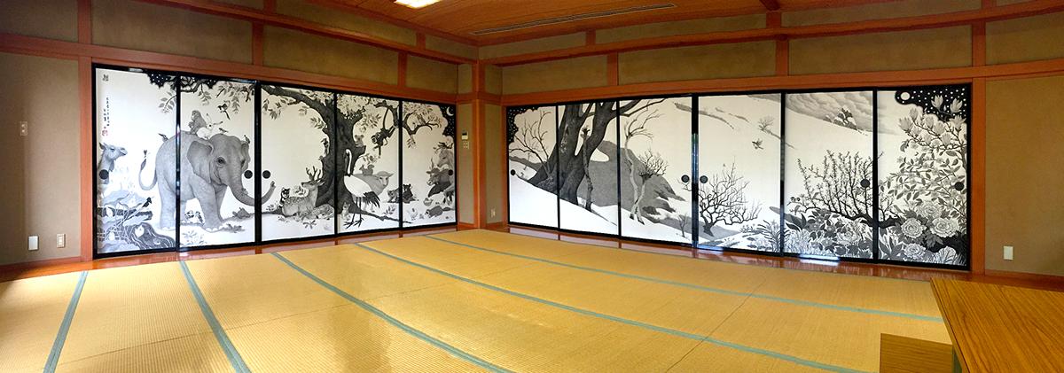 & Art Work :: Japan style \u0027Fusuma-e project\u0027 on Behance