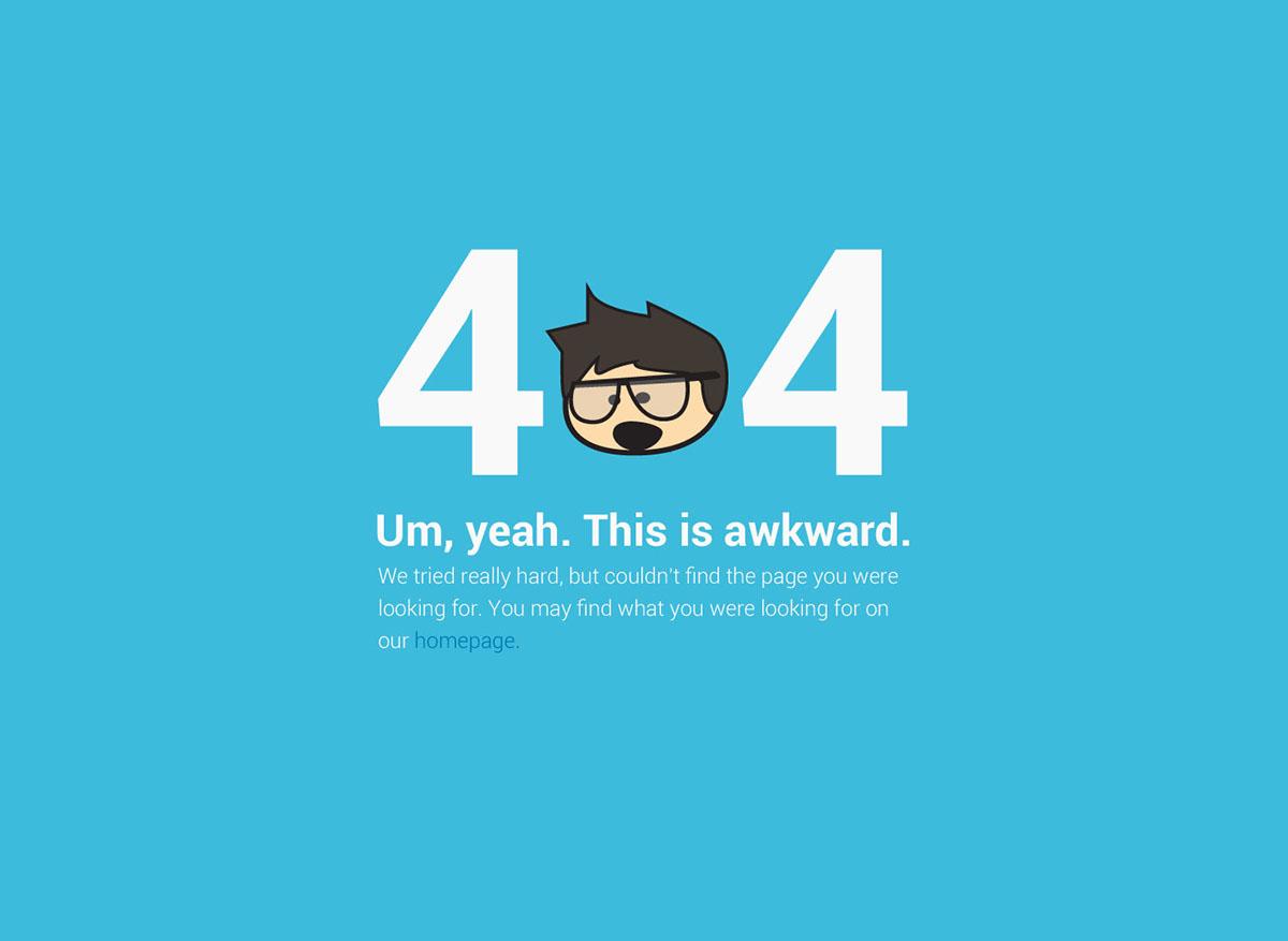 404 page redirect landing splash characters