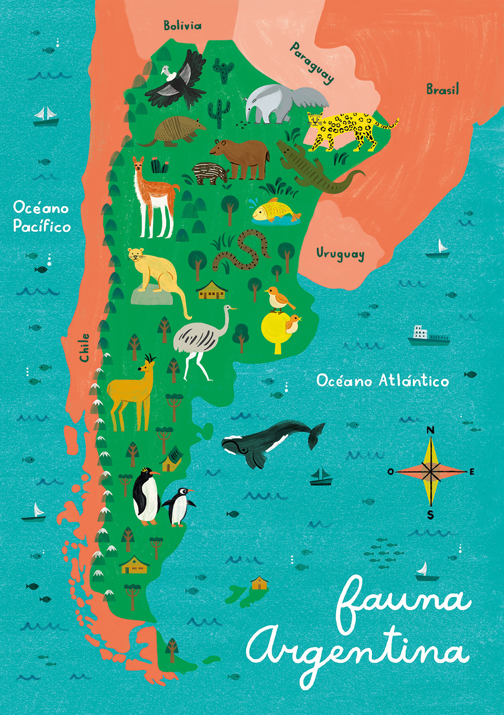 Argentina Map Puzzles on Behance
