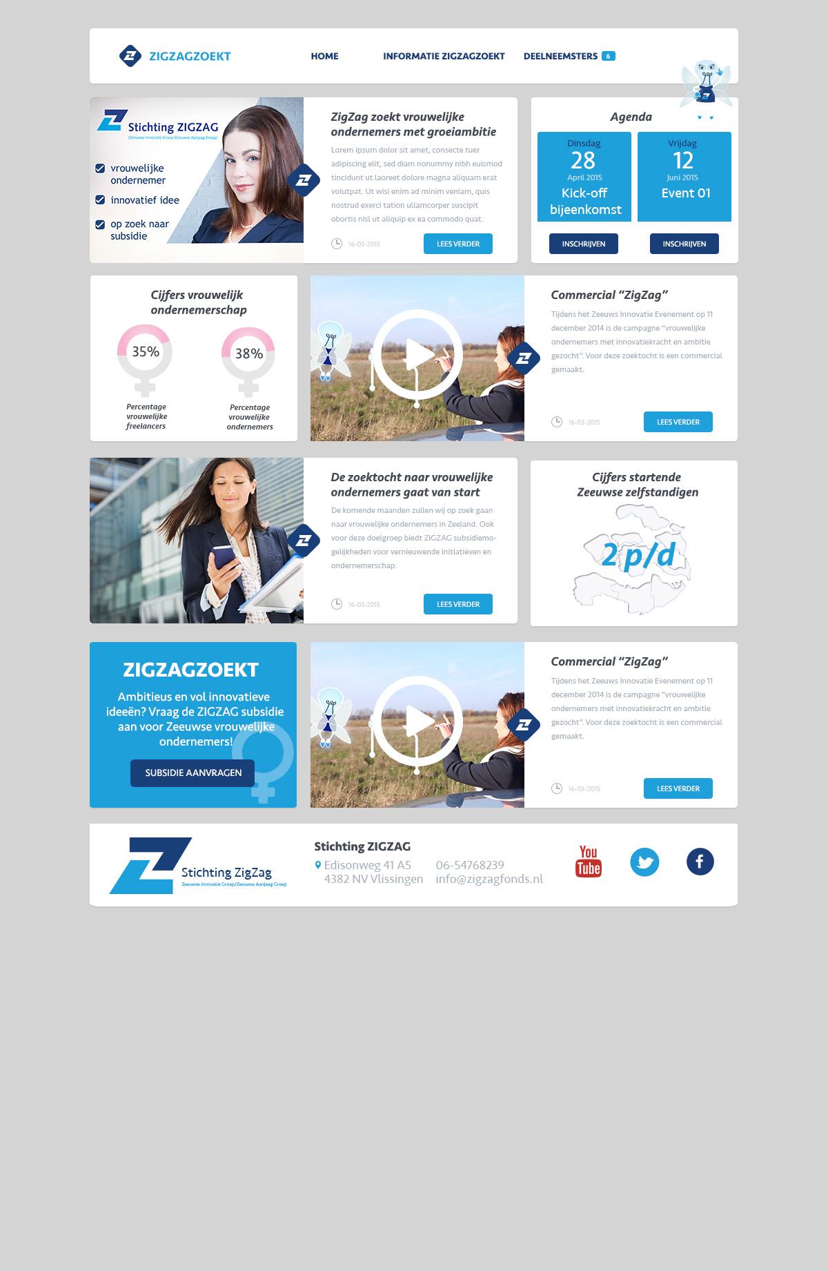Stichting ZigZag ZigZag Zoekt infographics Website Vrouwelijk ondernemerschap