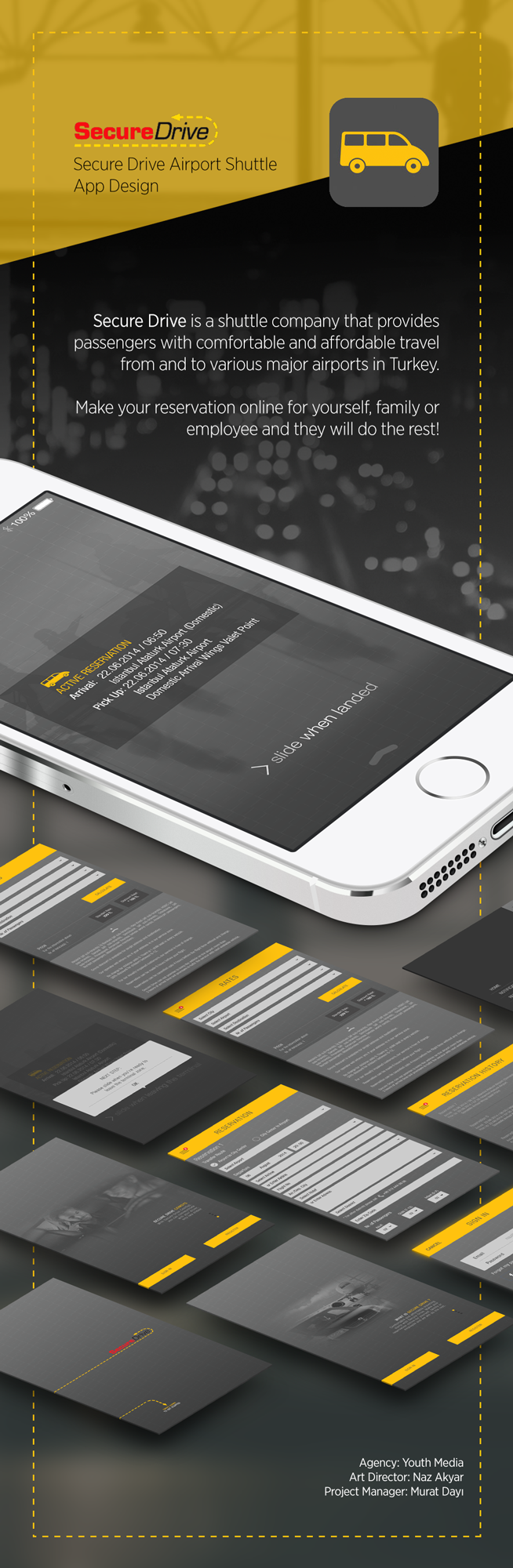 Mobile app ios TRANSFER shuttle application user interface user experience