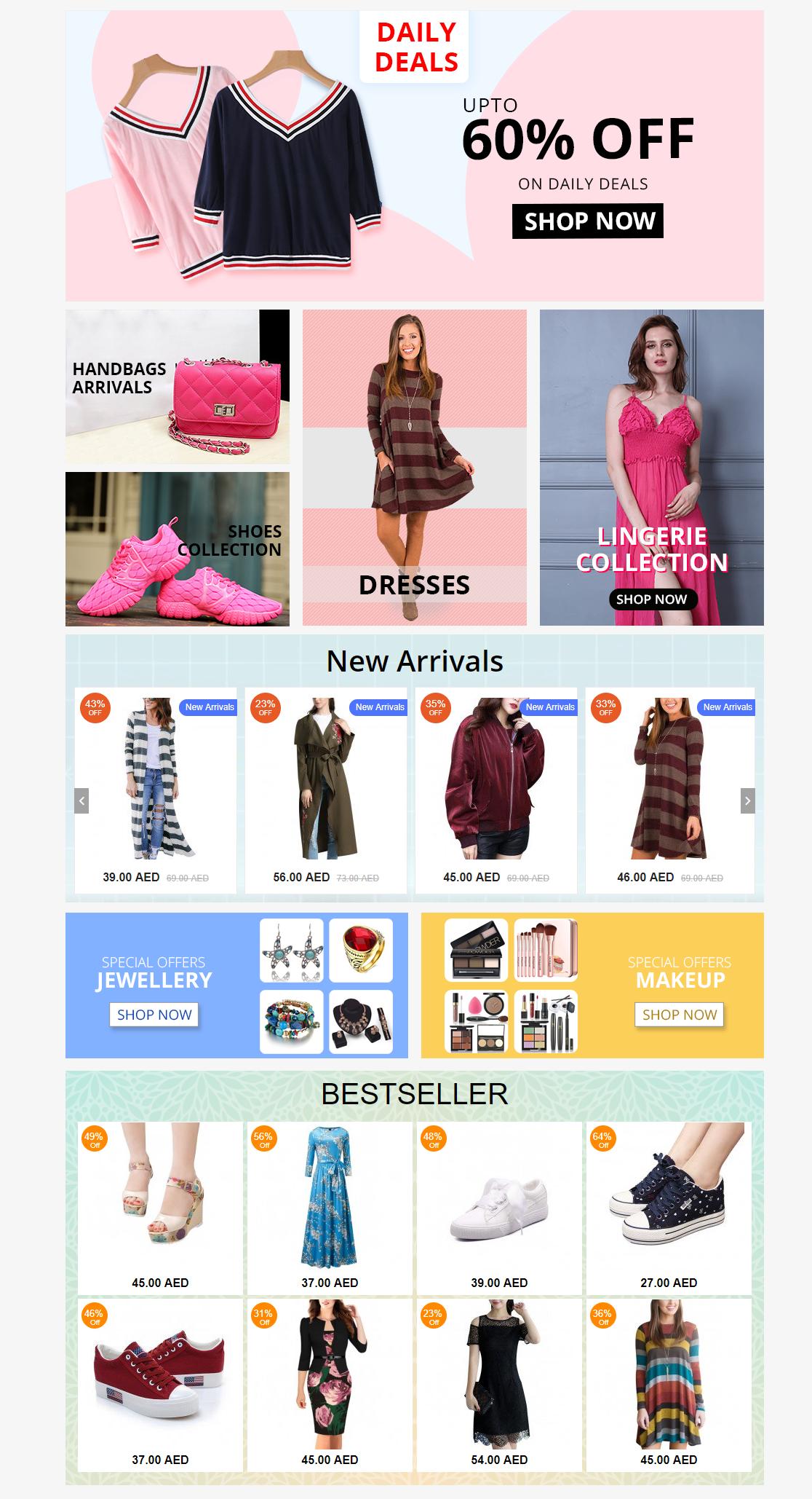 Website Template On Behance