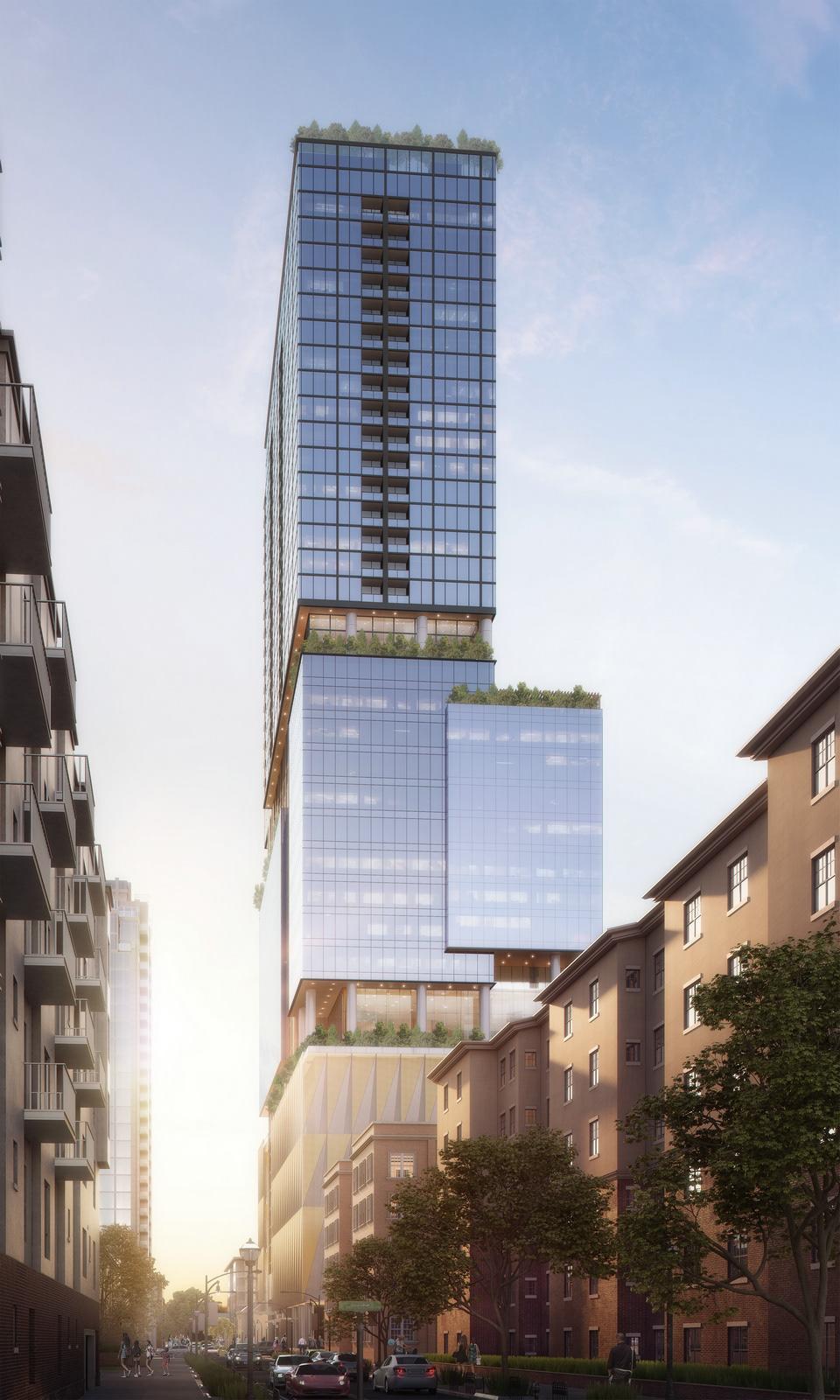 Exterior rendering Tower Rendering visualization