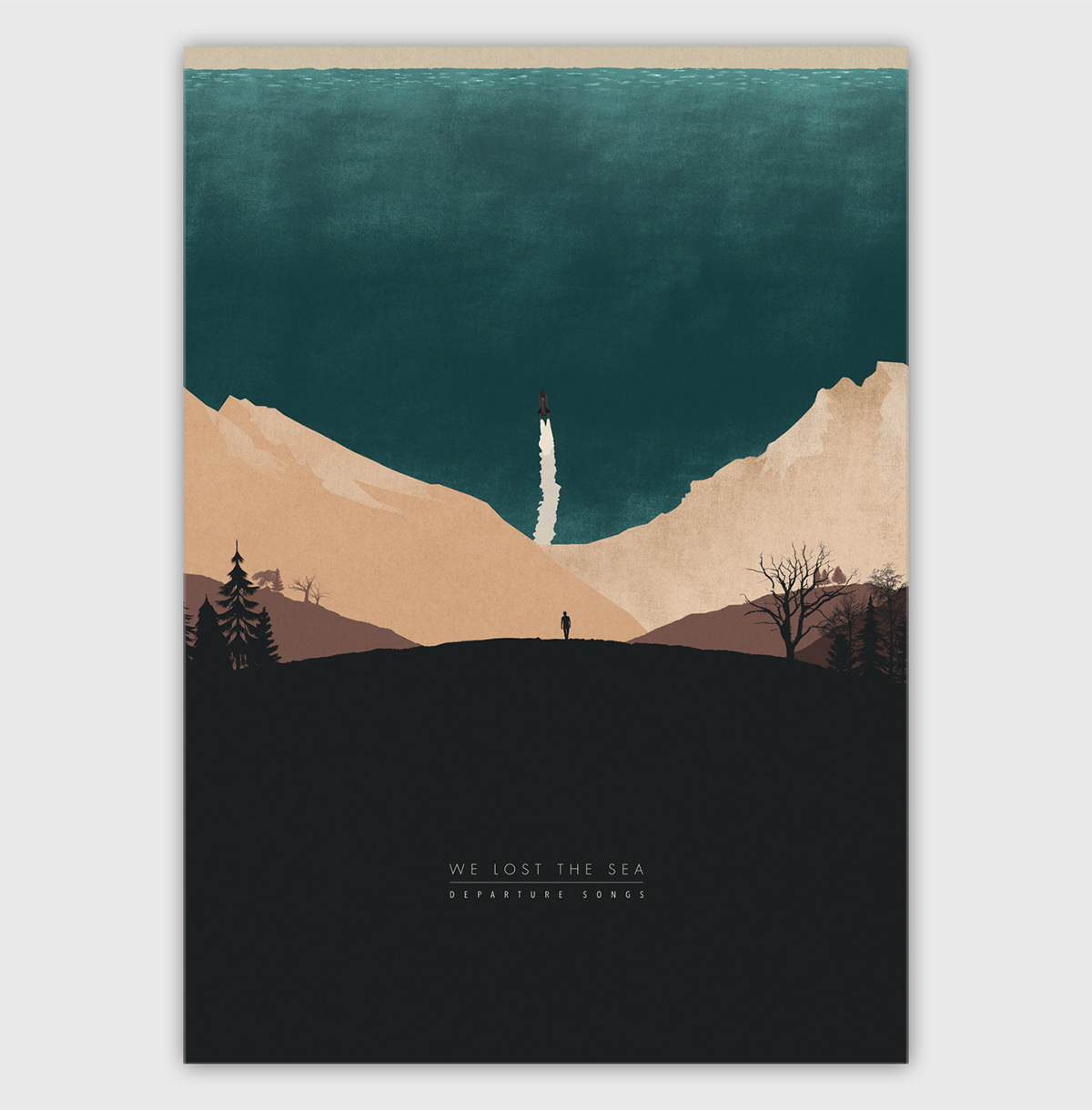 welostthesea music art Silhouettes landscapes Vector Landscapes epic mountains chernobyl Record Covers album art