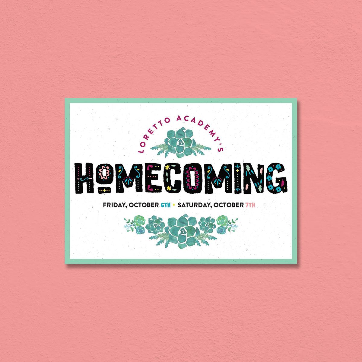 Loretto Homecoming Invitation on Behance