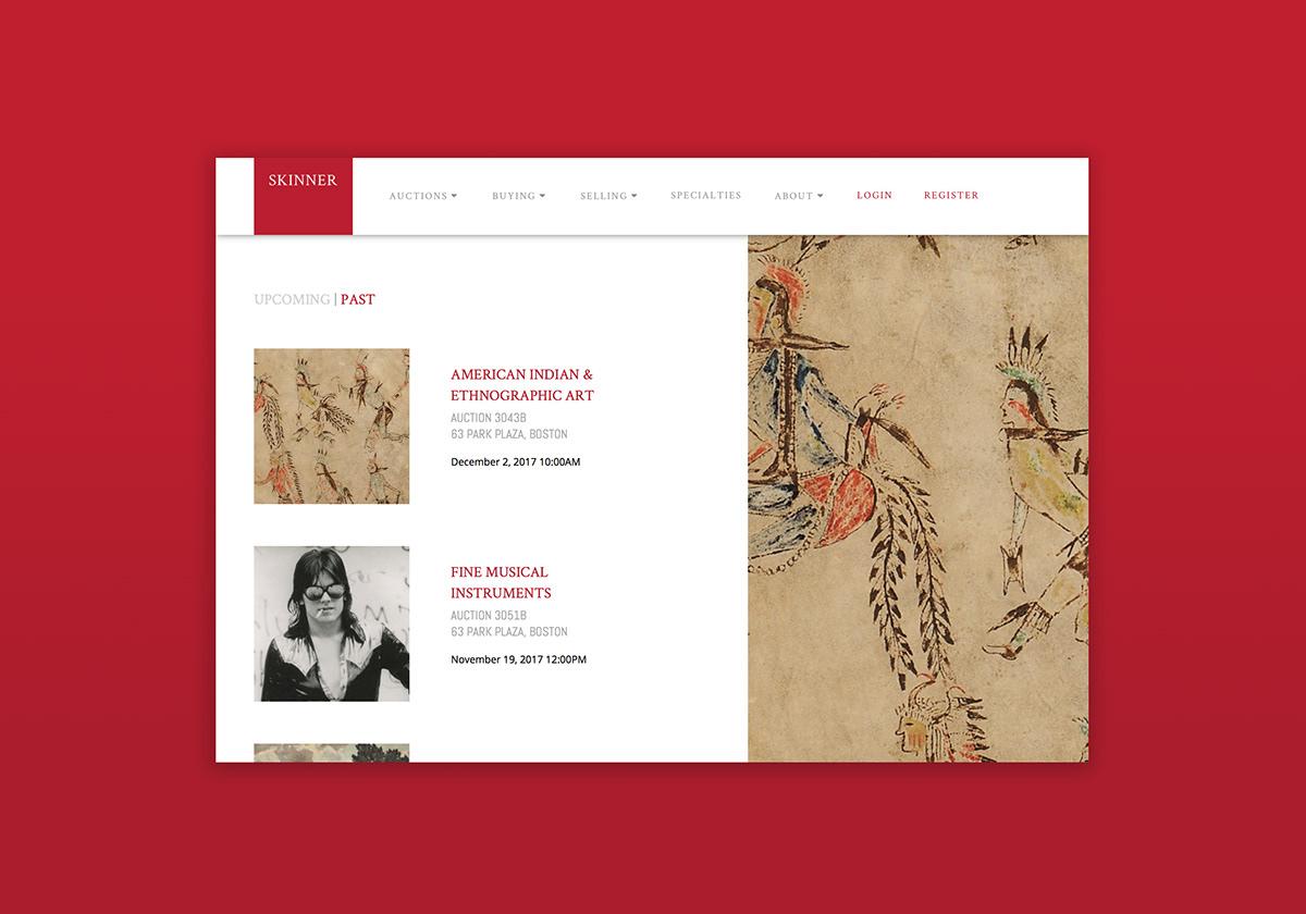skinner auctions Skinner Website auction website redesign