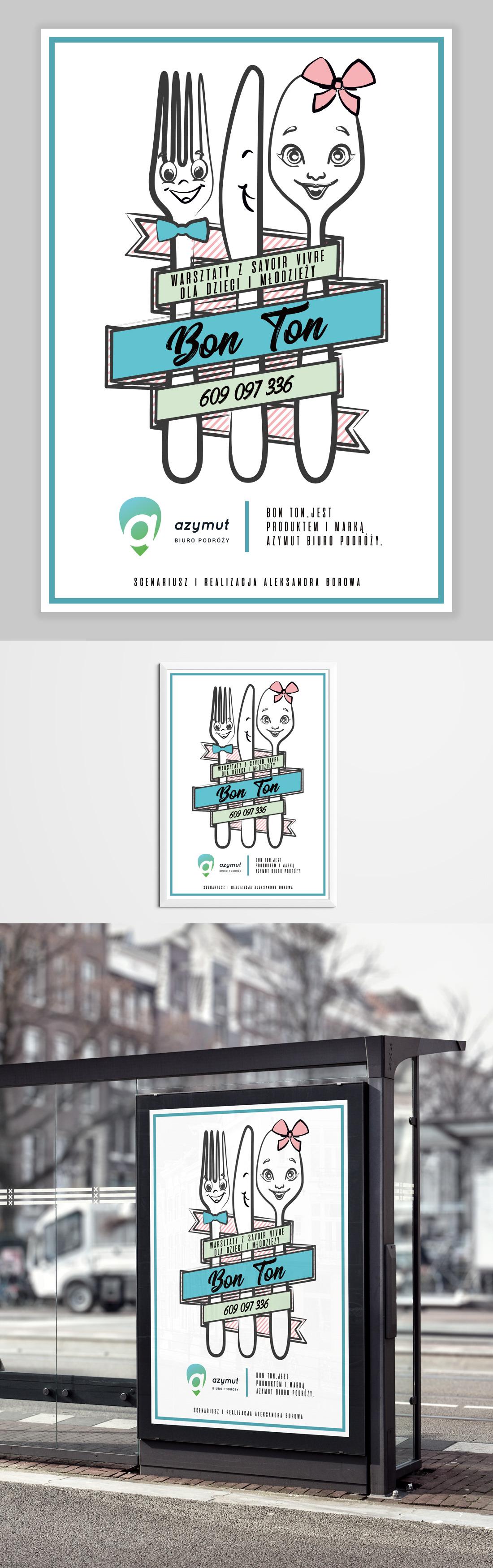 Savoir Vivre kids poster graphic sketch cutlery