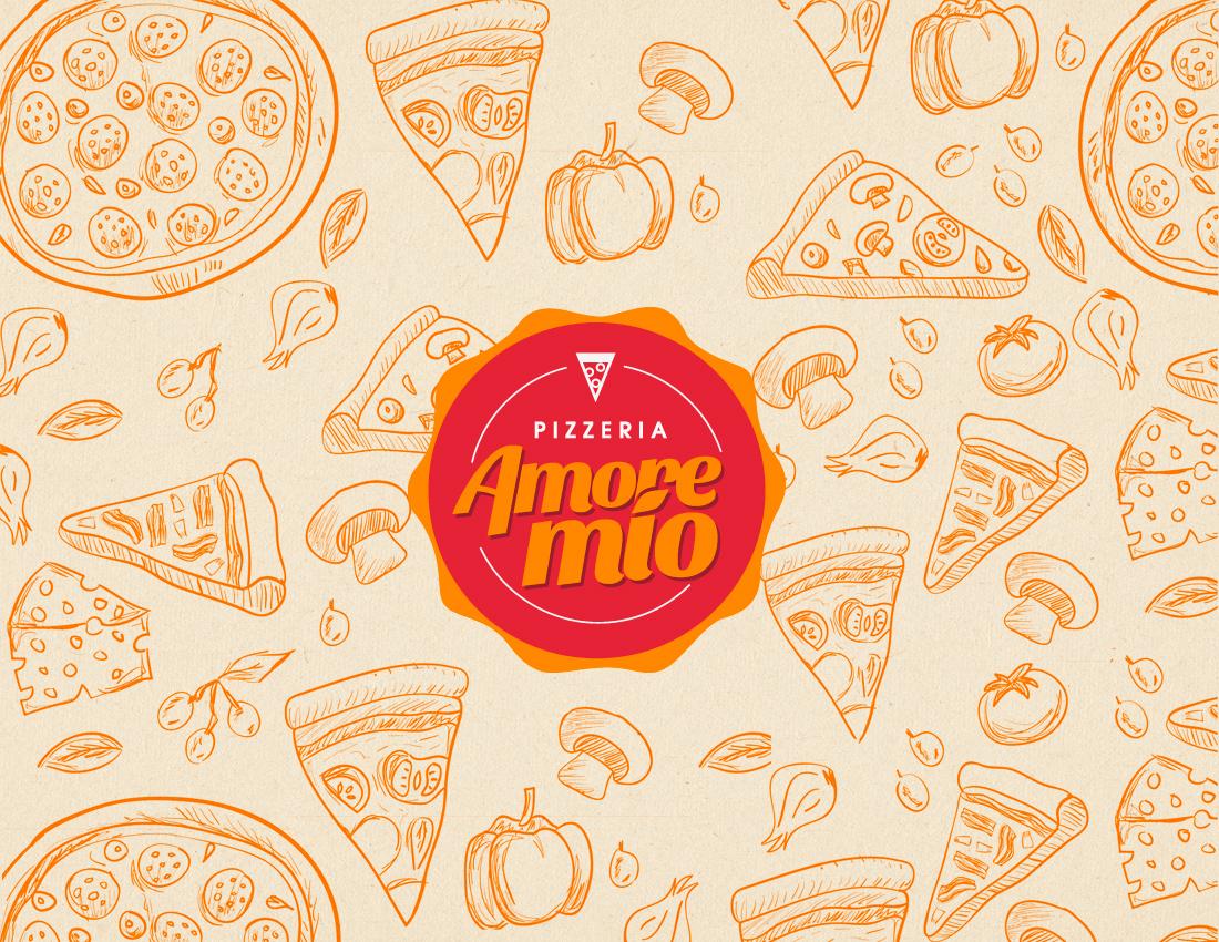 Amore Mío - Pizzeria Branding on Behance