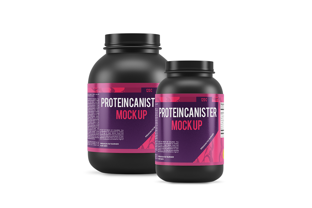 protein products gym jar Lable mock-ups muscle