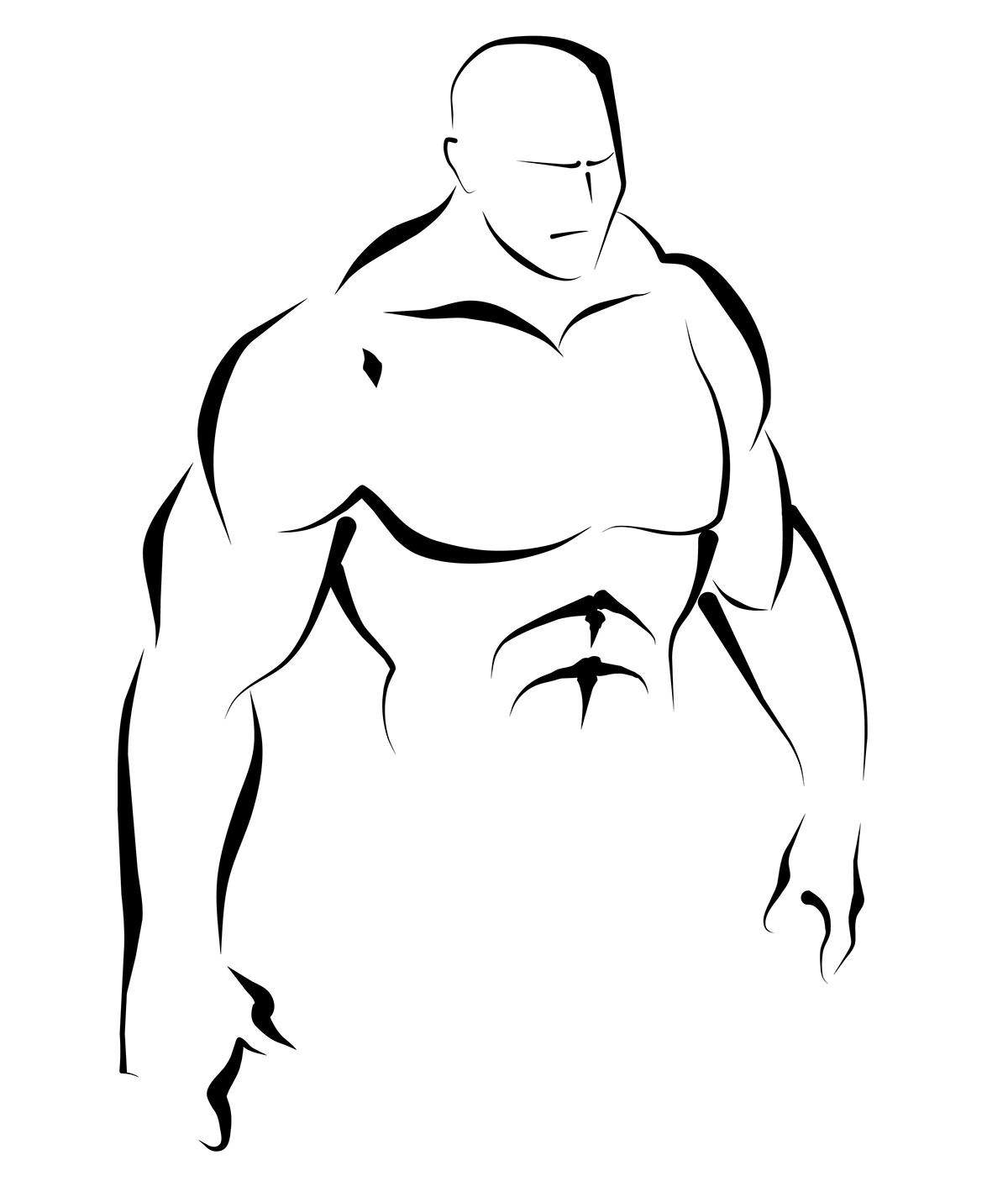 body line black human