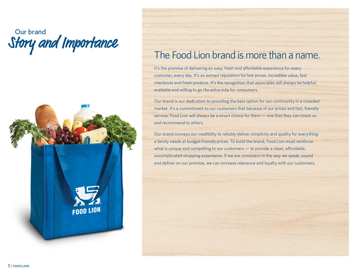 Food Lion LLC Brand Identity Standards Guide–Redesign on Behance