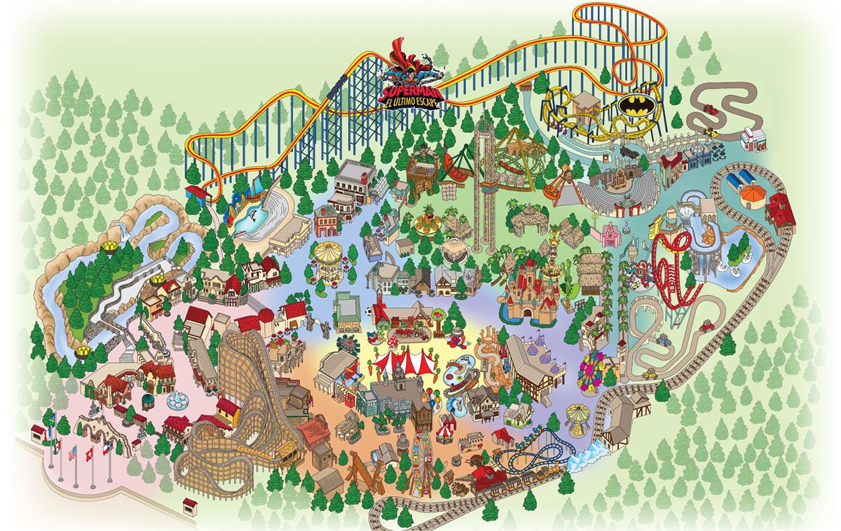 Mapa Six Flags Mexico On Behance