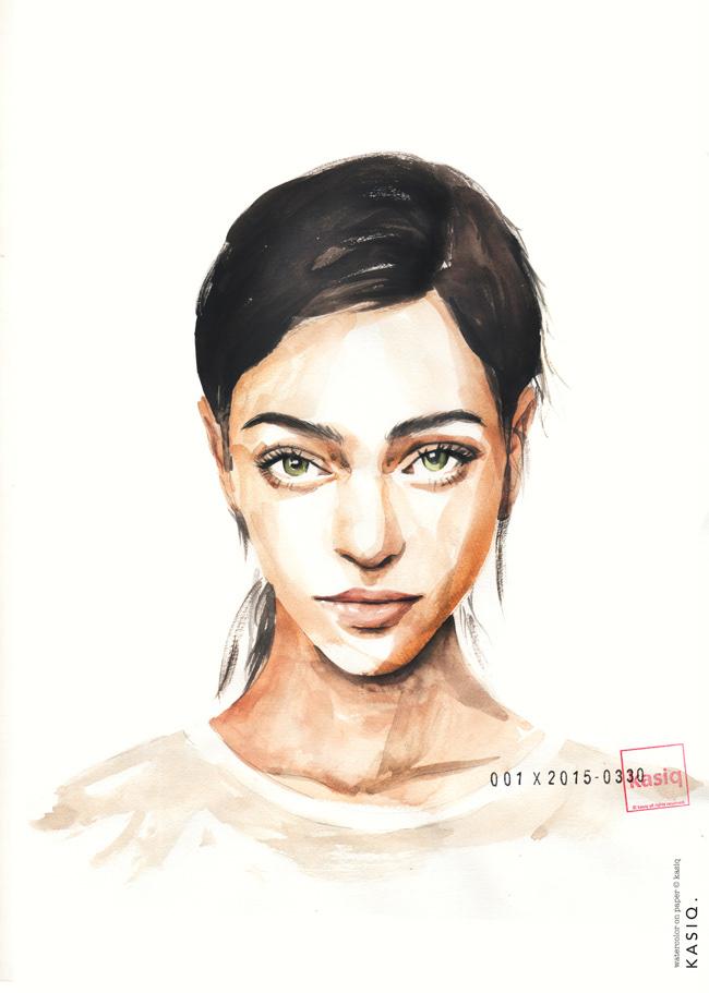 Drawing  Fashion  ILLUSTRATION  kasiq painting   Style watercolor