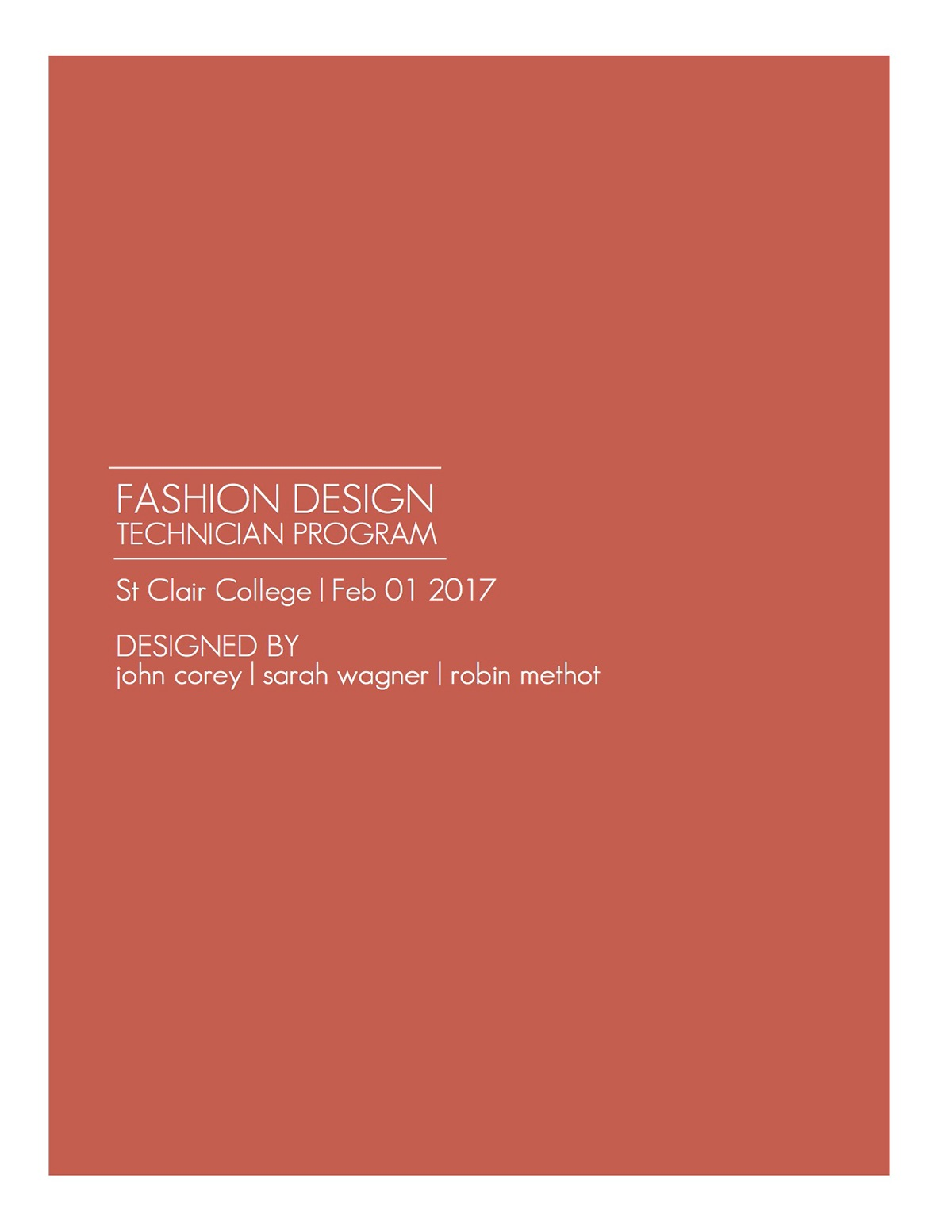 St Clair College Atelier Fashion Design Branding On Behance