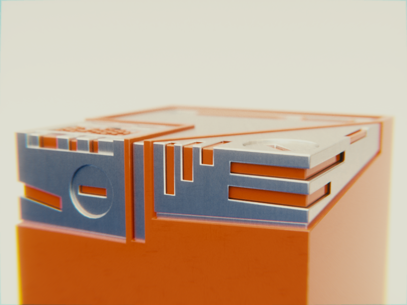 Boolean,cycles,orange,3D,blender,box,cutter,Render,plastic,metal,dof