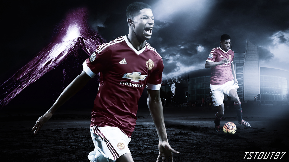 Marcus Rashford Manchester United Wallpaper On Behance