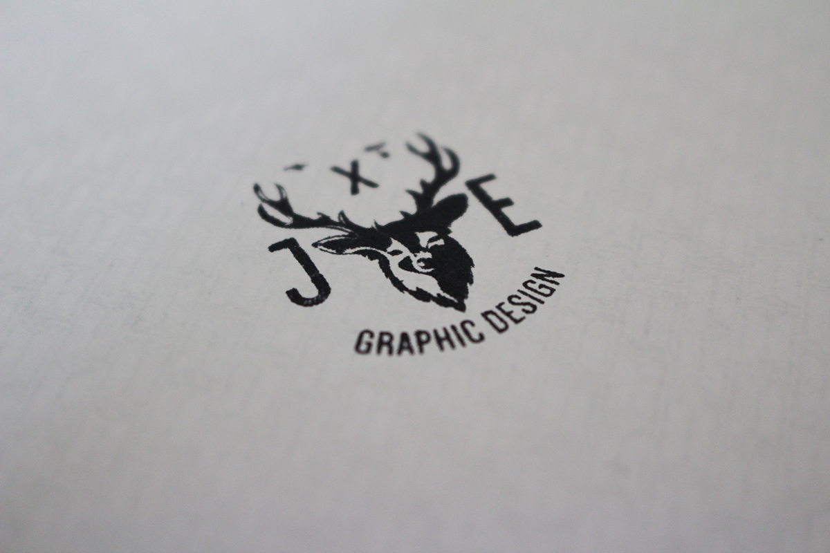 self branding self identity personal branding Personal Identity identity deer head Stag Head Website brand Web logo design portfolio business card stamp
