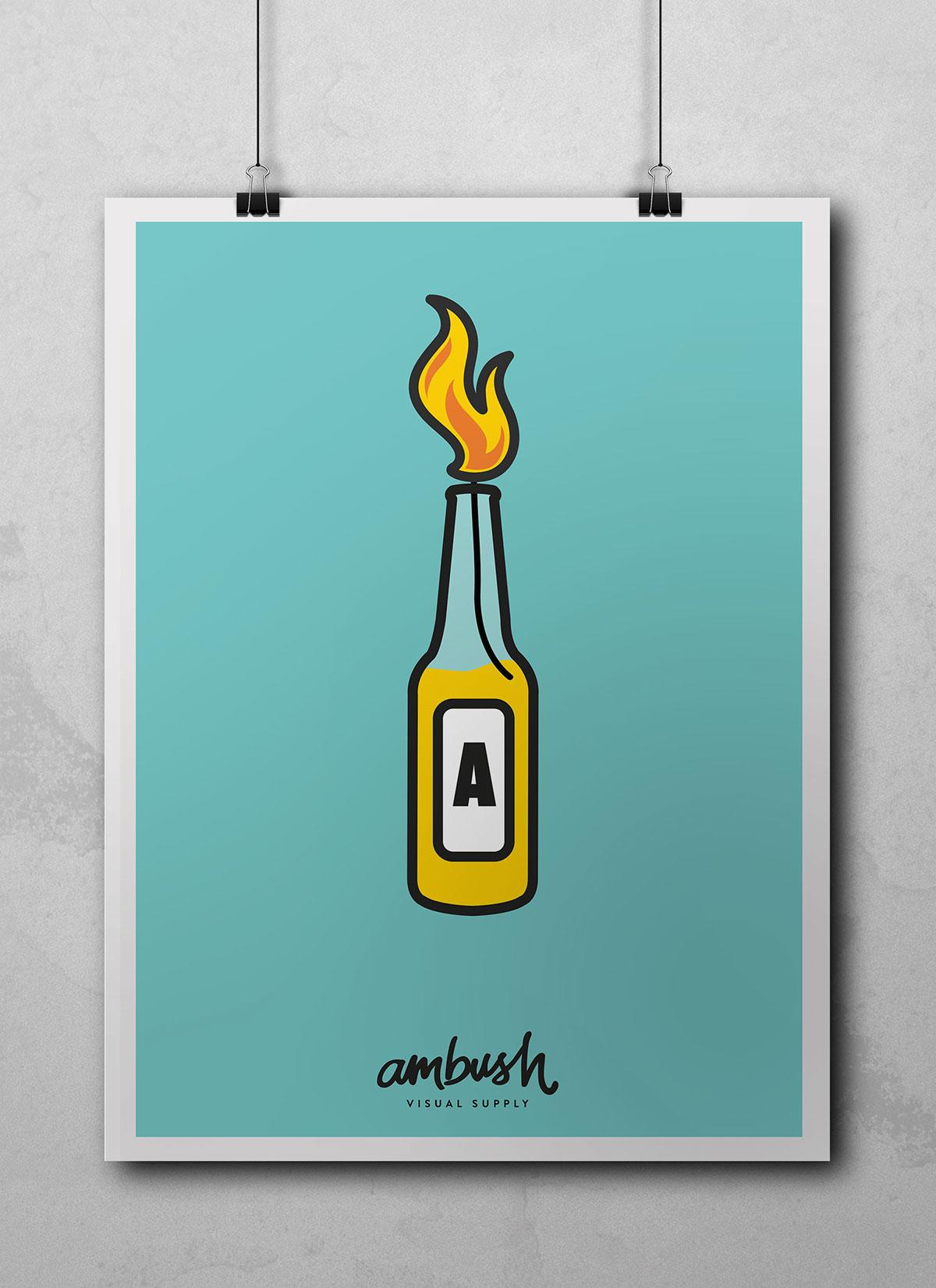 Ambush posters bottle molotov Icon supply