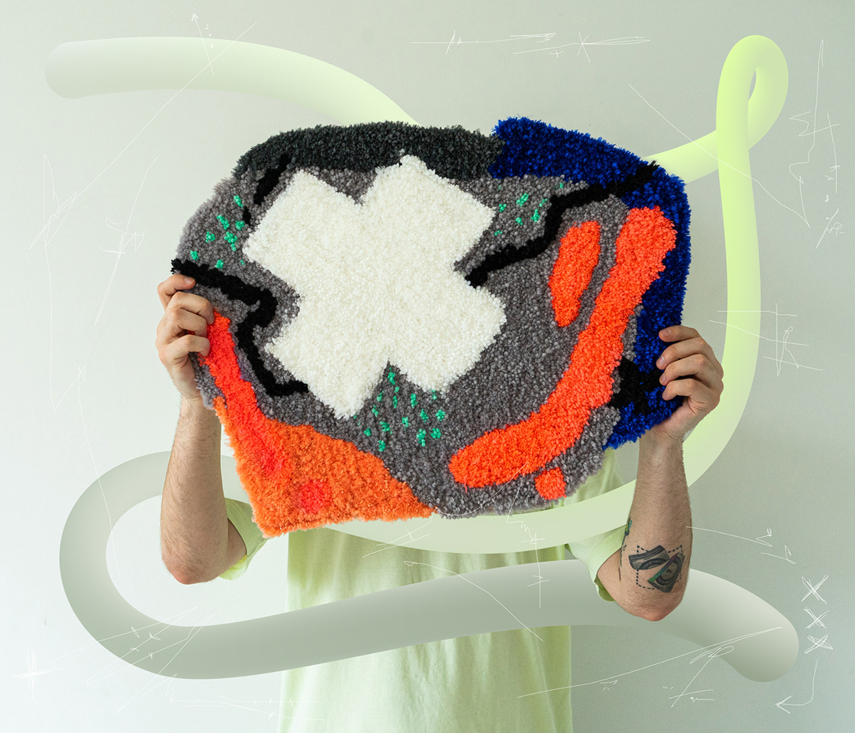 craft Custom DIY Fashion  handmade Interior Photography  product design  Rug tufting