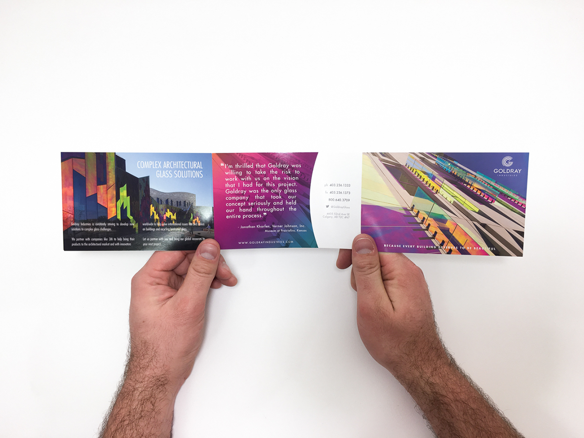 brochure trifold print glass spot gloss glossy postcard postcards