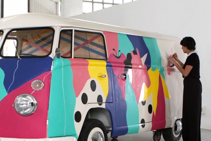 pull&bear pullcustomvans michela picchi campaign Street barcelona Paris tiger surreal pop jungle fever unicorn colors
