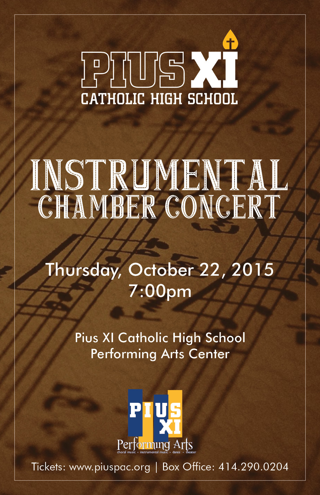 Pius XI High School poster