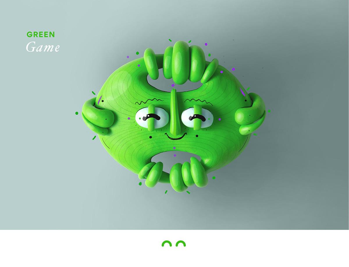 Image may contain: cartoon and green