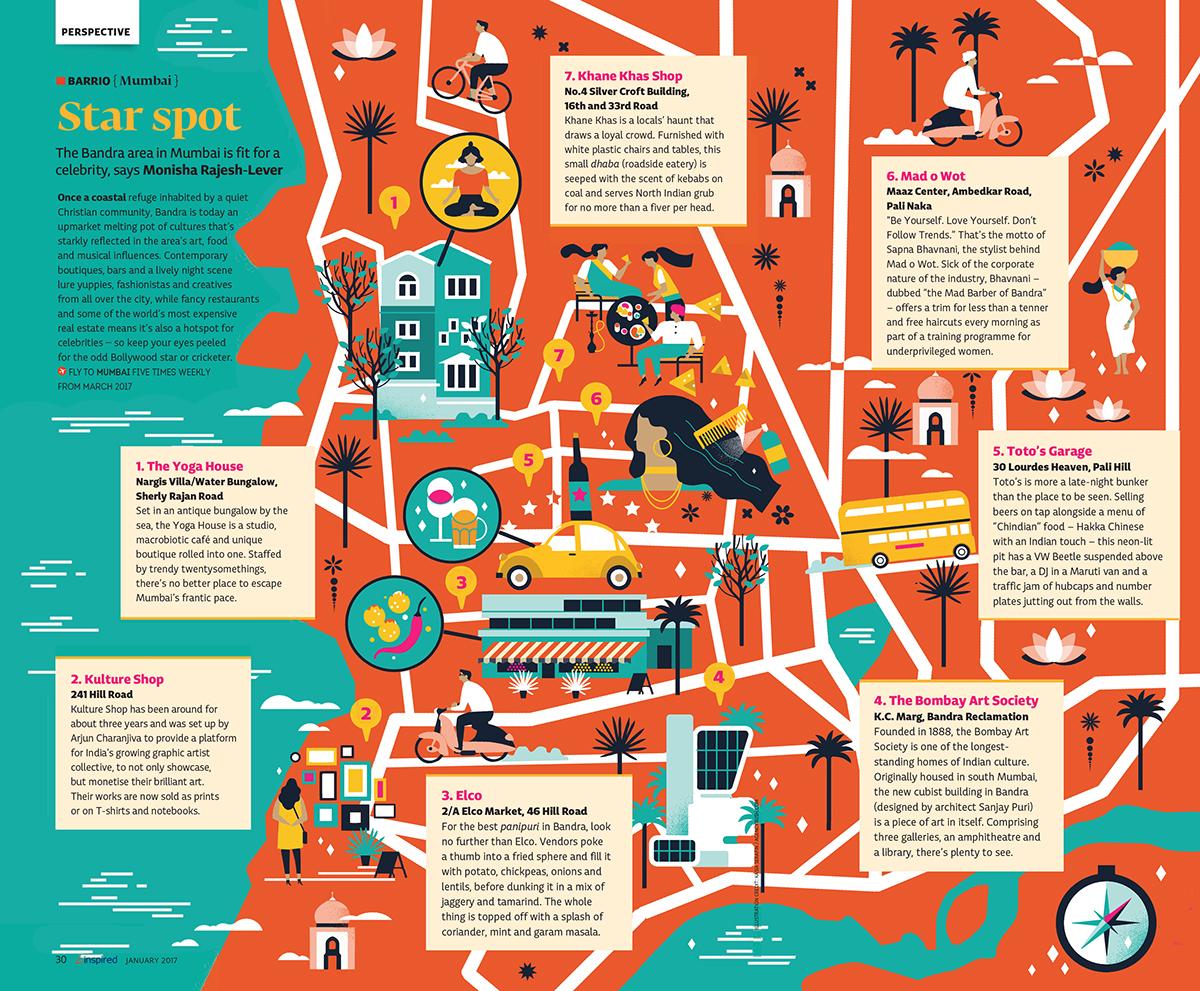Mumbai Map on Behance