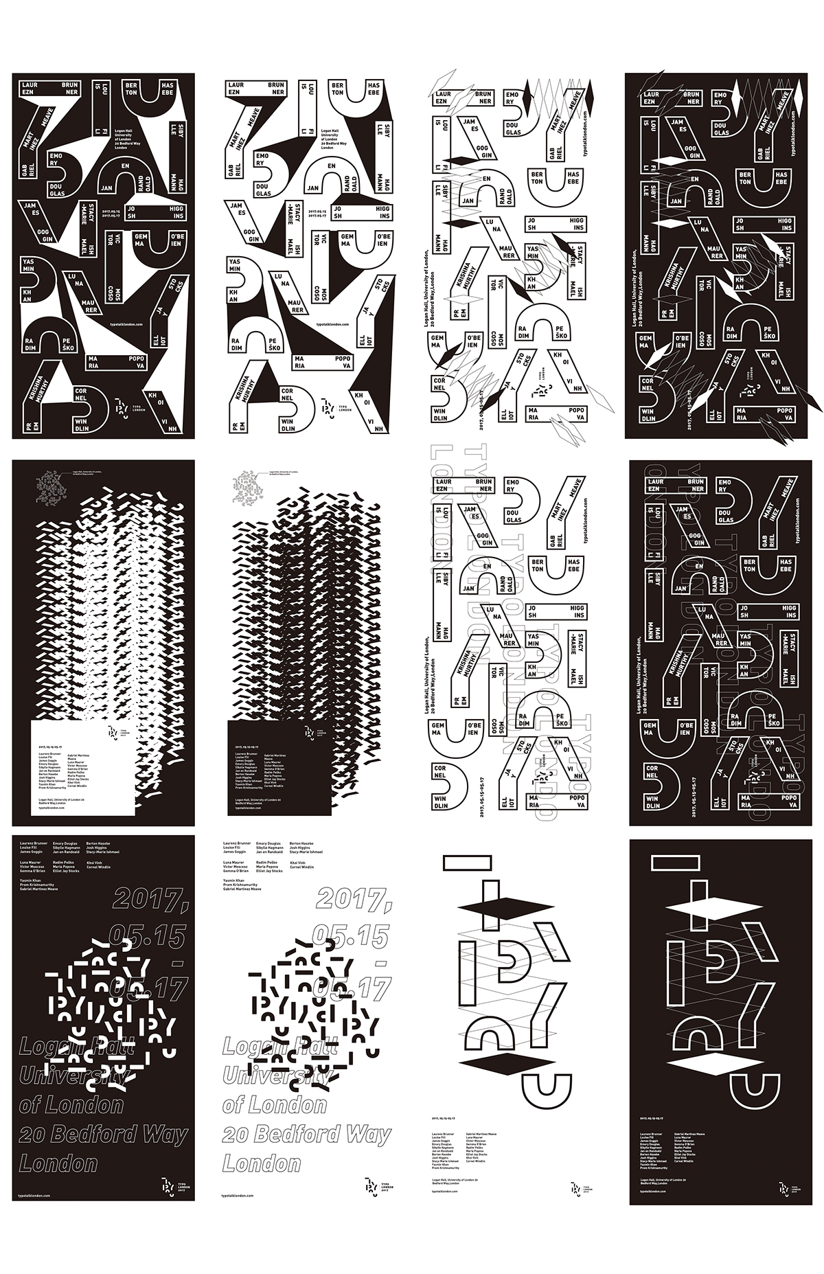 logo Layout typotalks poster blackandwhite graphic wordmark