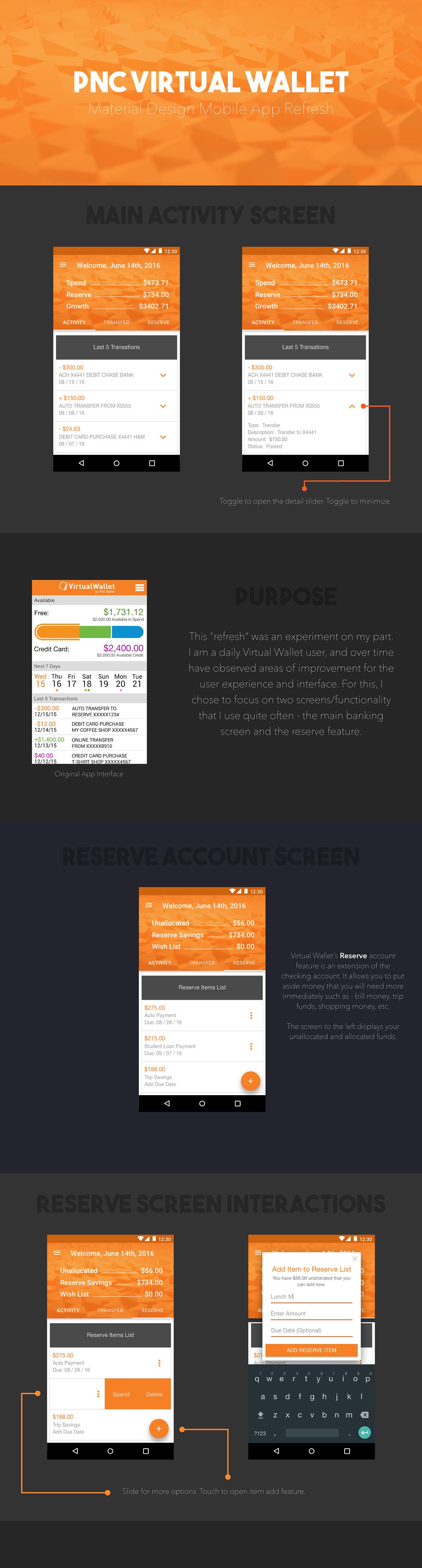 PNC App - UX/UI Refresh on Behance