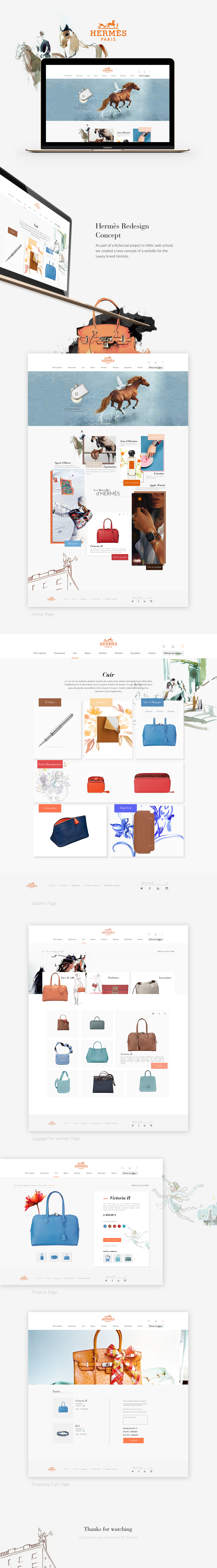hermes,luxury,Web,redesign