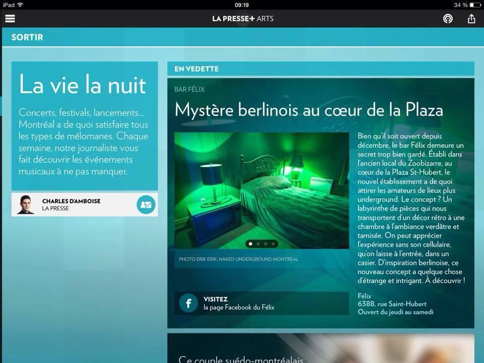 Felix Bar Pour La Presse On Behance