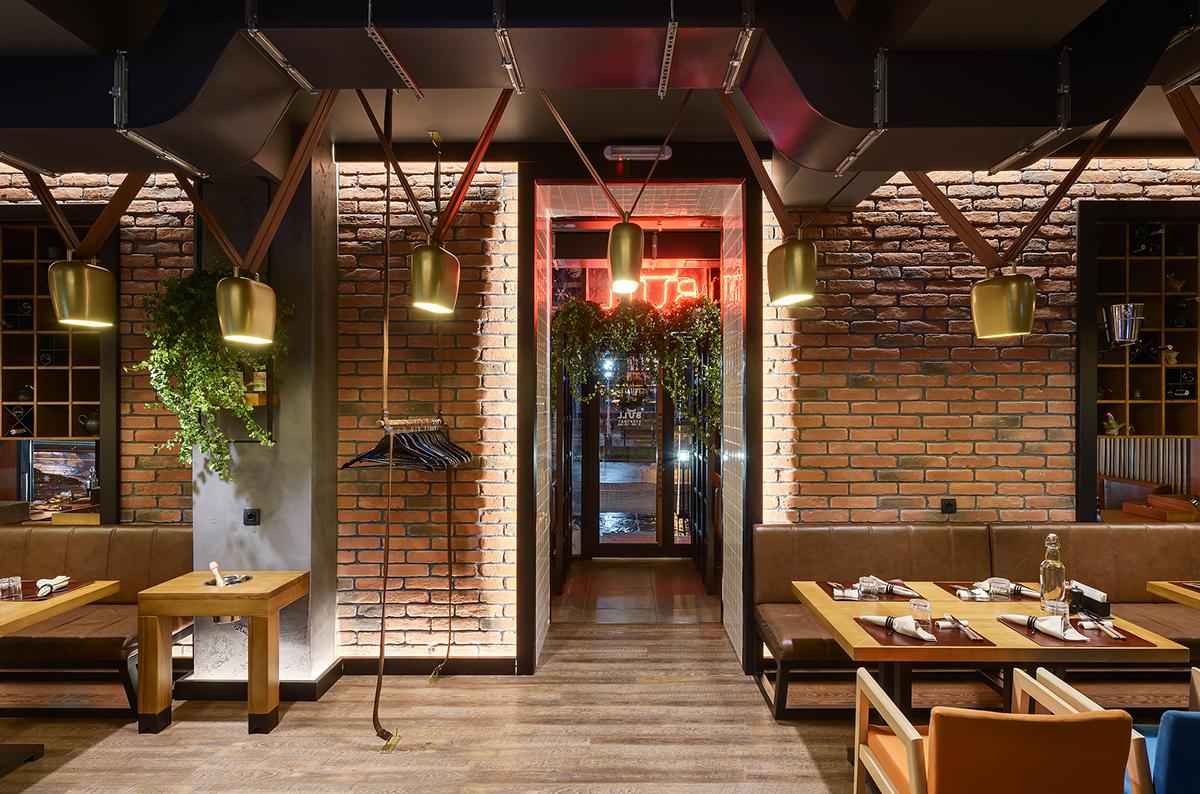bull butcher and wine the meat restaurant interior on behance rh behance net