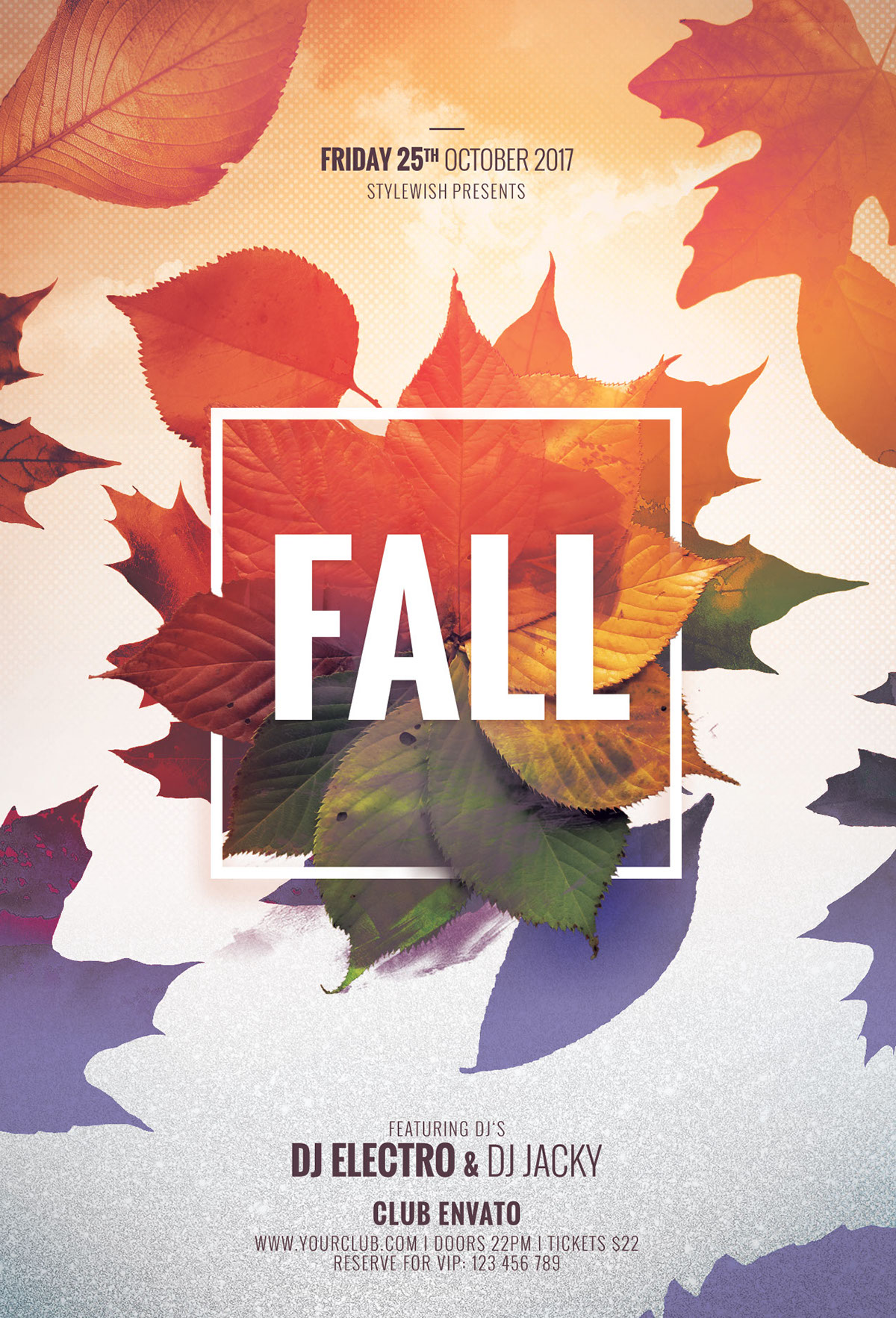 fall flyer template on behance